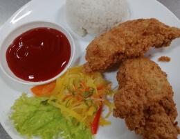 Chicken Leg (w/rice)