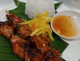 Pork BBQ (w/ rice and drinks)